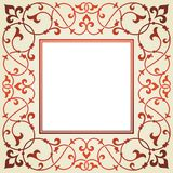 Floral invitation card. Royalty Free Stock Images