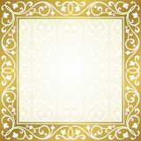 Floral invitation card. Royalty Free Stock Image