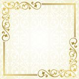 Floral invitation card. Stock Photo