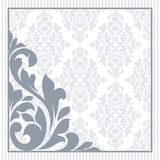 Floral invitation card. Royalty Free Stock Photo