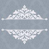 Floral invitation card. Royalty Free Stock Photos
