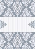 Floral invitation card. Royalty Free Stock Photography