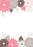 Floral invitation Card Stock Photo