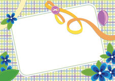 Floral invitation frame Stock Images