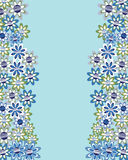 Floral invitation or greeting card, vector Stock Photo