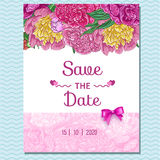 Floral invitation greeting card. Royalty Free Stock Photos