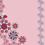 Floral vector  invitation or greeting card Royalty Free Stock Photos