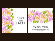 Floral invitation Royalty Free Stock Image