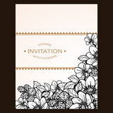 Floral invitation Royalty Free Stock Photos