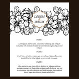 Floral invitation Stock Images