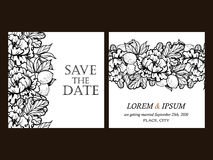 floral invitation Royalty Free Stock Photo