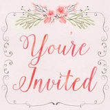 Floral Invitation Royalty Free Stock Images