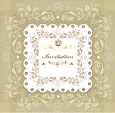 Floral invitation wedding card for design. Elegant classic wedding invitation. Retro vector Stock Images