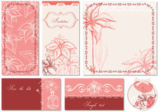 Floral invitations Royalty Free Stock Photos