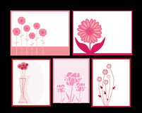 Floral invitations set Stock Photos