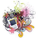 Floral Ipod Vector Design stock photos
