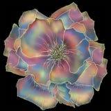 Floral isolado Estilo de um batik da ilustra??o para um fundo e cartazes ilustração royalty free