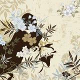 Floral japonês ilustração do vetor