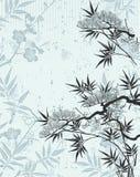 Floral japonês ilustração stock