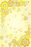 Floral jaune Images libres de droits
