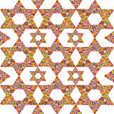 Floral Jewish background Royalty Free Stock Photo
