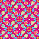 Floral kaleidoscope. Seamless vector texture. Vector pattern. Floral kaleidoscope seamless vector pattern. Can be used in web design, printed on fabric, pape Stock Photo