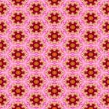 Floral Kaleidoscopic mosaic seamless texture Stock Photos