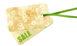 Floral label sale Royalty Free Stock Image