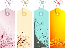 Floral labels Stock Photography