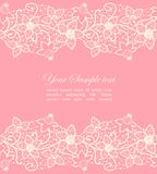 Floral lace Stock Photo