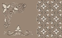 Floral lace Royalty Free Stock Images