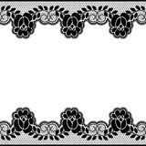Floral lace borders vector illustration