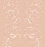Floral lace pattern. Seamless background Royalty Free Stock Images