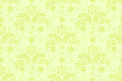 Floral lace pattern. Seamless green floral lace pattern on a light background Royalty Free Stock Photos
