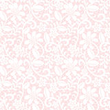 Floral lace pattern. Seamless white floral lace pattern on pink background Stock Image