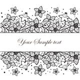 Floral lace Stock Images