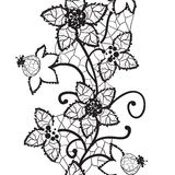 Floral lace, seamless vector Stock Photography