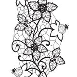 Floral lace, seamless vector Royalty Free Stock Photo