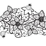 Floral lace, seamless vector Stock Images