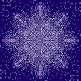 Floral lace snowflake with winter motiv Royalty Free Stock Photography