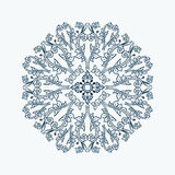 Floral lace style round decorative element. Royalty Free Stock Images