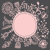 Floral lacy background. Vector illustration Stock Photo