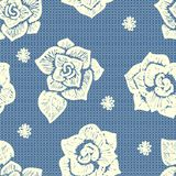 Floral lacy seamless pattern Stock Image