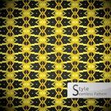 Floral lattice point Gold vintage geometric seamless pattern vec Stock Images
