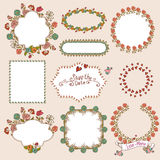 Floral Laurels, Ribbons, Wreaths Vector Stock Image