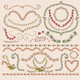 Floral Laurels, Ribbons, Wreaths Vector Royalty Free Stock Images