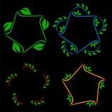 Floral leaf logos Stock Images