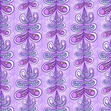 Floral leaf pattern. Violet seamless floral leaf pattern texture background Royalty Free Stock Photography