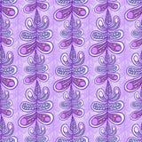 Floral leaf pattern. Violet seamless floral leaf pattern texture background stock illustration