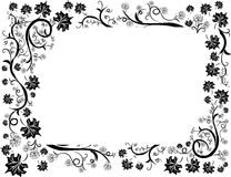 Floral leafs design frame Stock Photography
